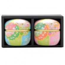 極上煎茶手まり缶セット 媛しずく2缶箱入(80g×2缶)