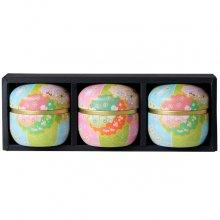 極上煎茶手まり缶セット 媛しずく3缶箱入(80g×3缶)