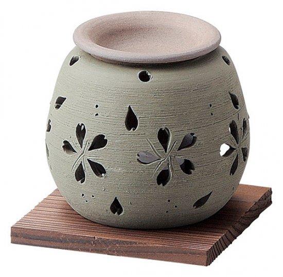 石龍緑桜茶香炉