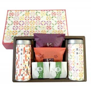 メール便対応商品 お中元 知覧茶 お茶と和菓子 ありがとうセットA