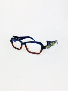 偃月(えんげつ) C.4 孔雀藍/月季紅 ブルーハーフレッド