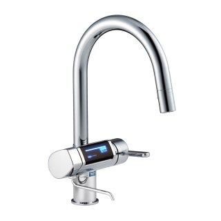 グラシア 電解水素水整水器シングルレバーキッチン混合栓(日本トリム製カートリッジ付)コールドスタート仕様