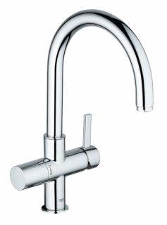 グローエブルー炭酸冷水機 シングルレバーキッチン混合栓(グローエブルー浄水器付)