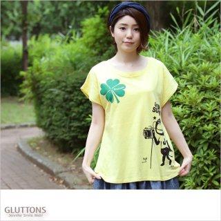 【Gluttons】ジェニファー、幸せクローバー&仲間達と撮影会Tシャツ