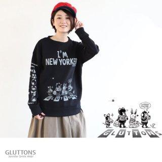 【Gluttons】ジェニファーと仲間達でWalk!ウォーク!NEW YORKERトレーナー
