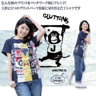【Gluttons】ART!?クールなジェニファーパッチワーク☆Tシャツ