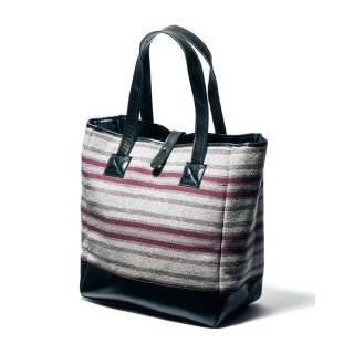 Y'2LEATHER  LEATHER×WOOL TOTE BAG (ワイツーレザー ウールボーダートートバック)