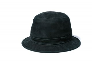 Y'2LEATHER HORSE NUBACK HAT BLACK(ワイツーレザー ホースヌバック ハット 黒)