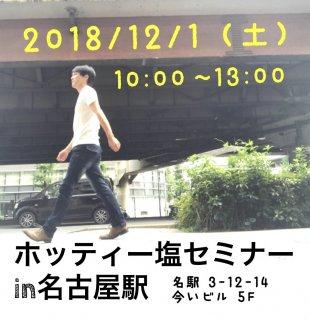 ホッティー塩セミナーin名古屋駅2018/12/1(土)商品と混ぜて買わないで下さい。