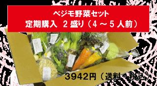 ベジモ野菜セット【定期購入】2盛り 送料無料!