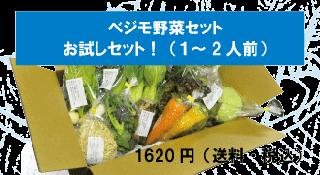ベジモ野菜セット【スポット購入】お試しセット!送料無料!