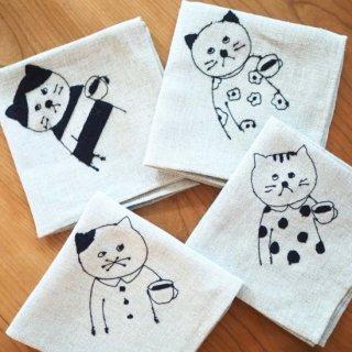 リネンの刺繍お弁当包み