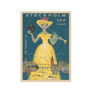 北欧ビンテージポスターデザイン
