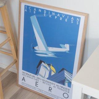 フィンランドデザイン ビンテージ旅行ポスター