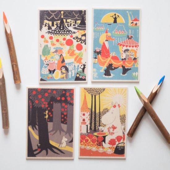 8クリスマス ギフト 北欧 ムーミン白樺のカード