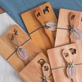 木製プレート+ナイフセット