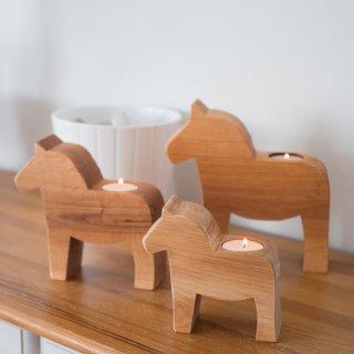 木製キャンドルスタンド「ダーラヘスト」3種