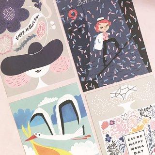 フィンランドのお祝いモチーフのポストカード