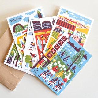 ポストカード5枚組 by ティモ・マンッタリ