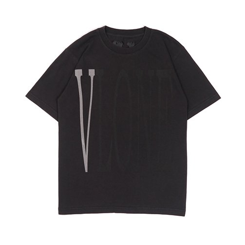 STAPLE T-SHIRT (BLACK/REFLECTOR&BLACKprint)