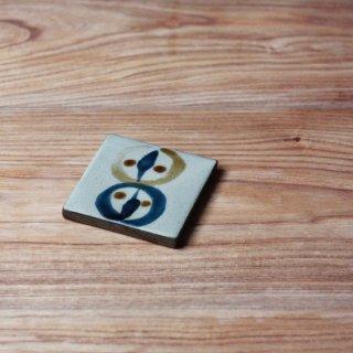 陶板(3寸:鳥柄)