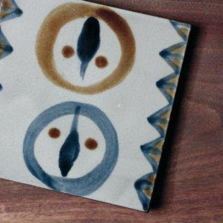 陶板(鳥柄)