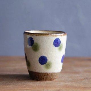 フリーカップ(点打:オリベ・コバルト)