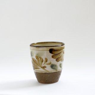 フリーカップ(唐草:オリベ/飴)
