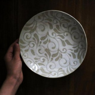 白唐草7寸皿