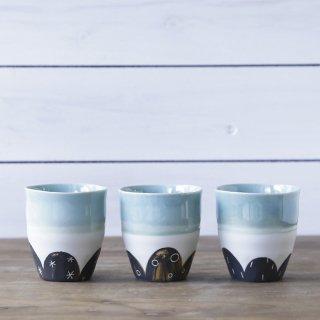 フラワーカップ(水色)