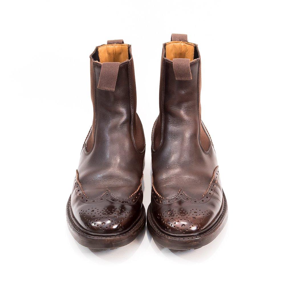 トリッカーズ サイドゴア ブーツ ヘンリー ウィングチップ サイズ8