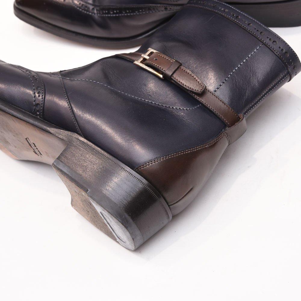サントーニ 手塗り パティーヌ仕上げ ブロ-キングブーツ  サイズ7