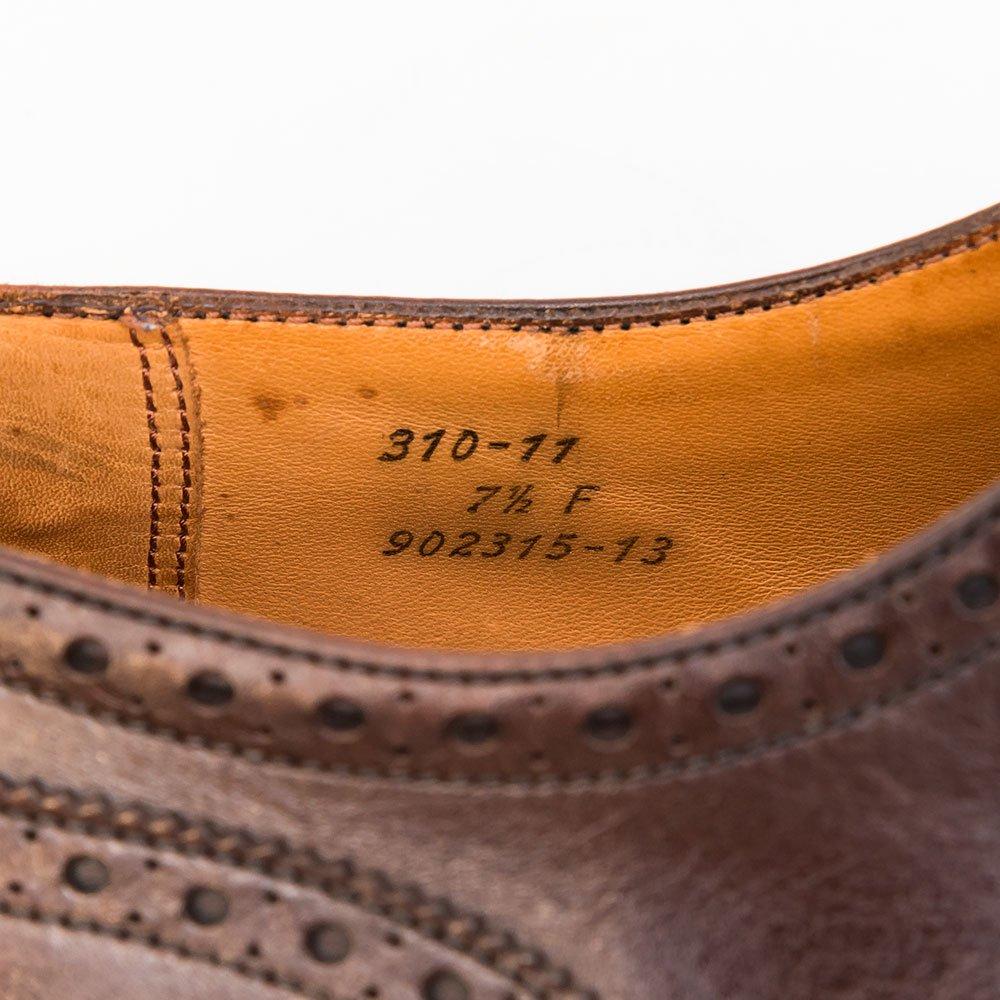 ジェイエムウエストン 310 セミブローグ ブラウン 旧タグ サイズ7.5D