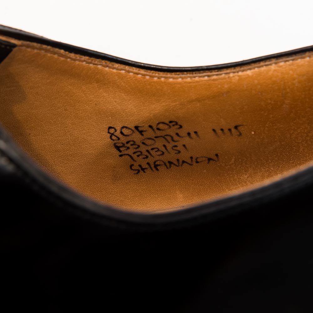 チャーチ シャノン ポリッシュドバインダー 黒 サイズ8F