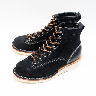 ヴァイバーグ ブーツ 【ヴァイバー】 sirius style 146 ブラック スエード 編み上げブーツ サイズ7.5