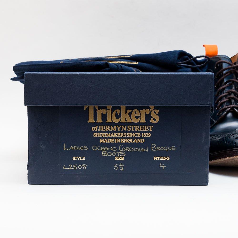 トリッカーズ カントリーブーツ コードバン ネイビー m2508 レディース サイズ5.5Fitting4