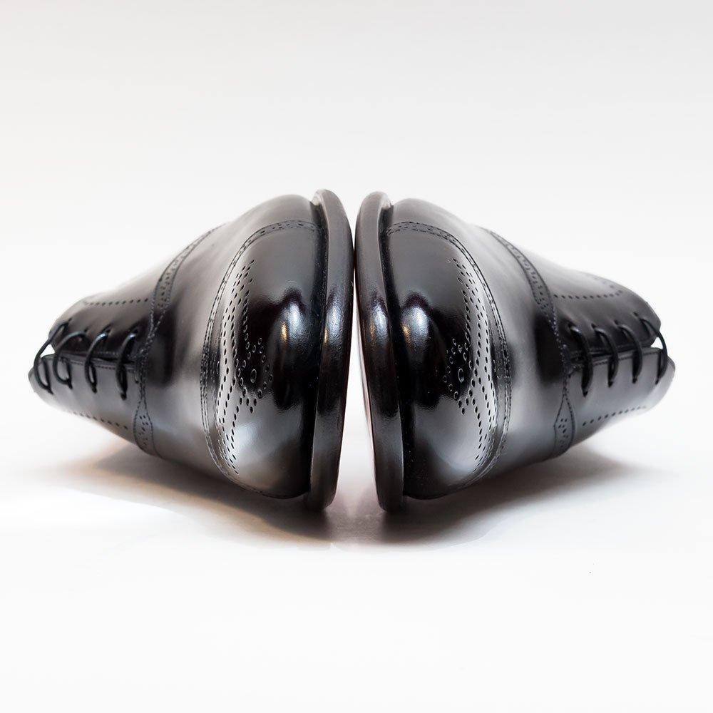 サントーニ キャップトゥメダリオン ブラック マッケイ製法 サイズ7.5