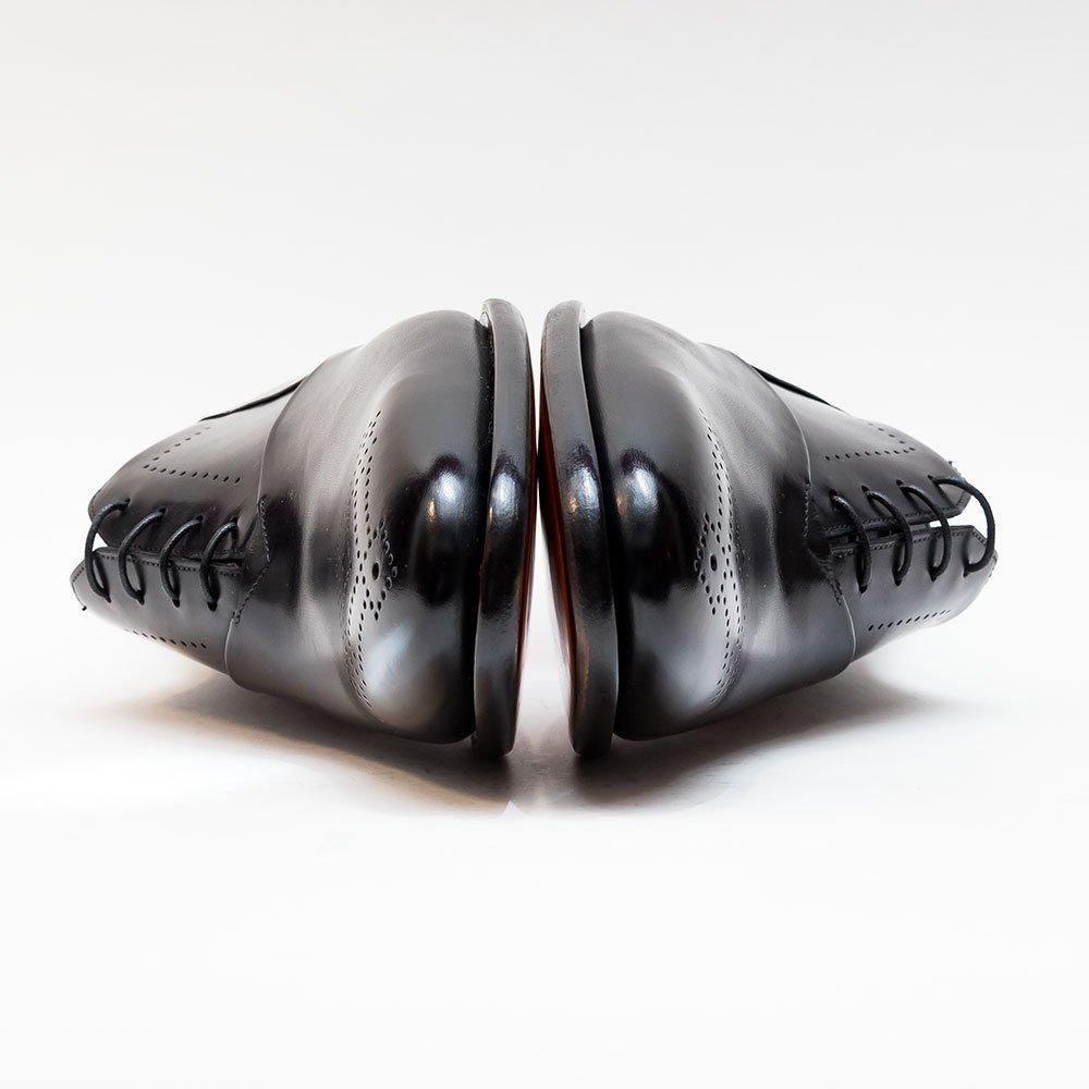 サントーニ メダリオンシューズ ブラック マッケイ製法 サイズ8