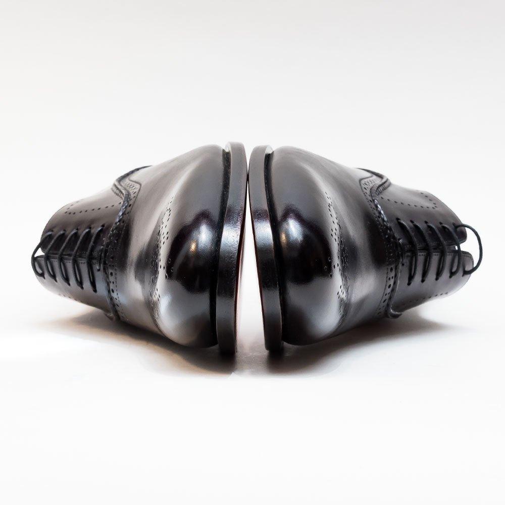 サントーニ メダリオンシューズ ブラック マッケイ製法 サイズ7.5