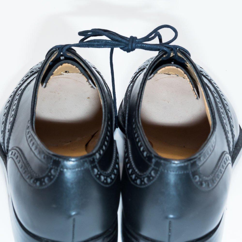バリー フルブローグ メダリオン ブラック サイズ6.5E