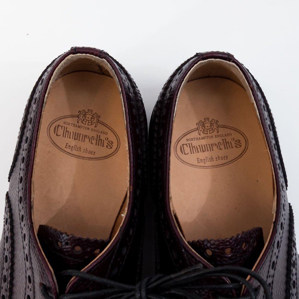 チャーチ Burwood【バーウッド】グレインレザー ブラウン フルブローグ ウィングチップ サイズ34.5