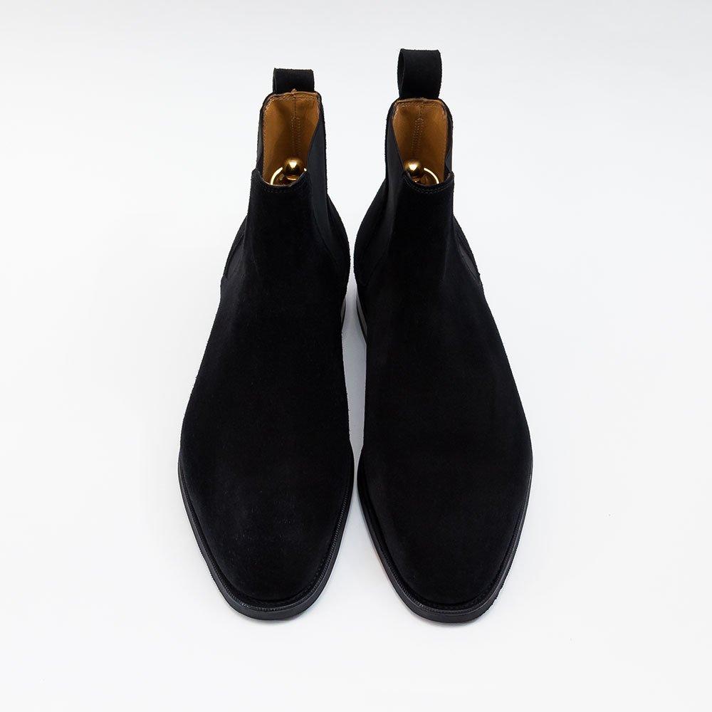 エドワードグリーン Camden【カムデン】ブラック サイドゴアブーツ スエード サイズ6.5E