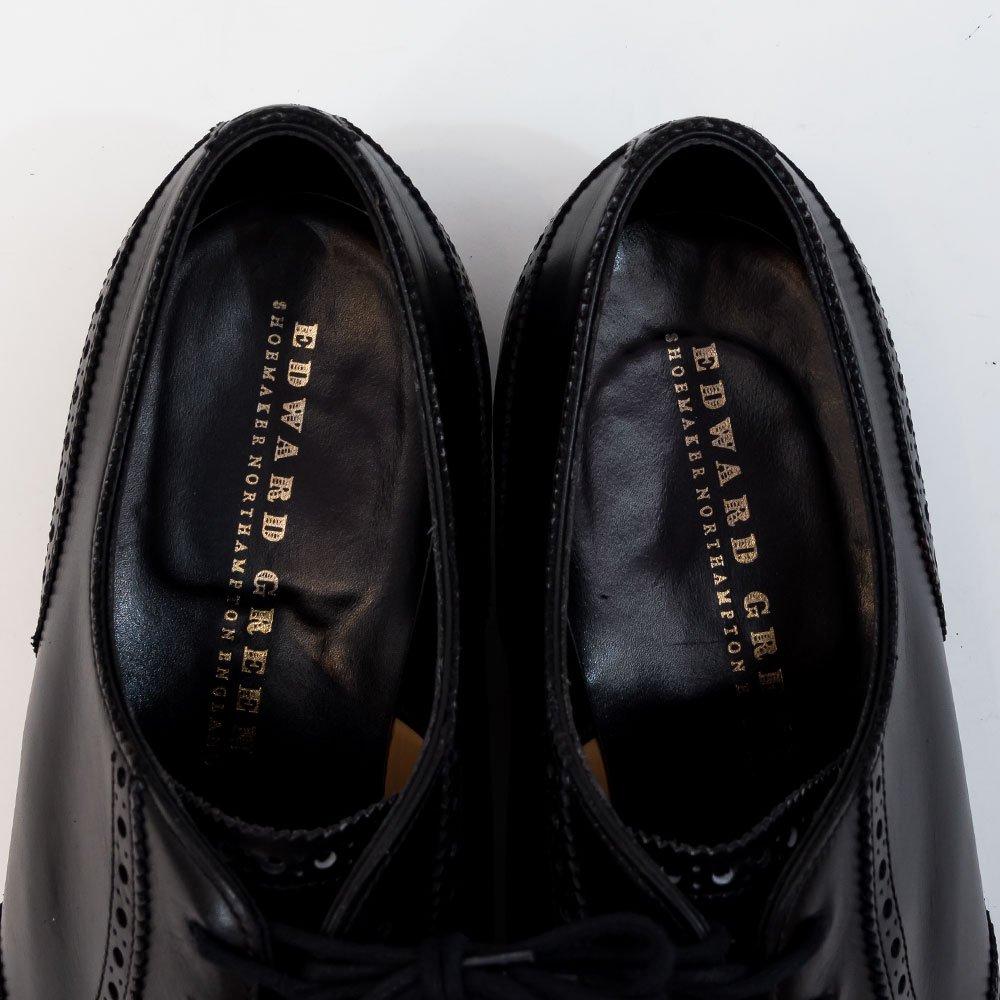 エドワードグリーン Plymouth (プリムス) ウィングチップ ブラック サイズ7.5E
