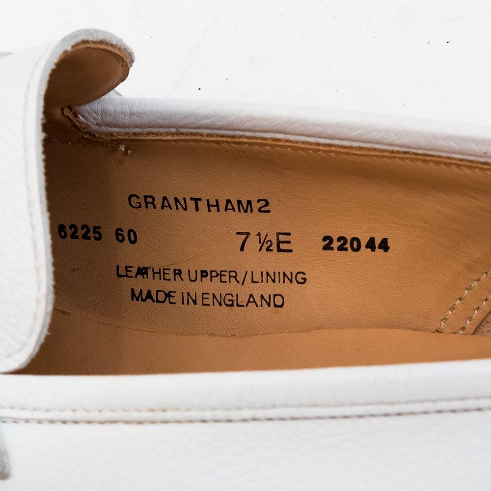 クロケット&ジョーンズ GRANTHAM2【グランサム】 コインローファー ホワイト サイズ7.5E