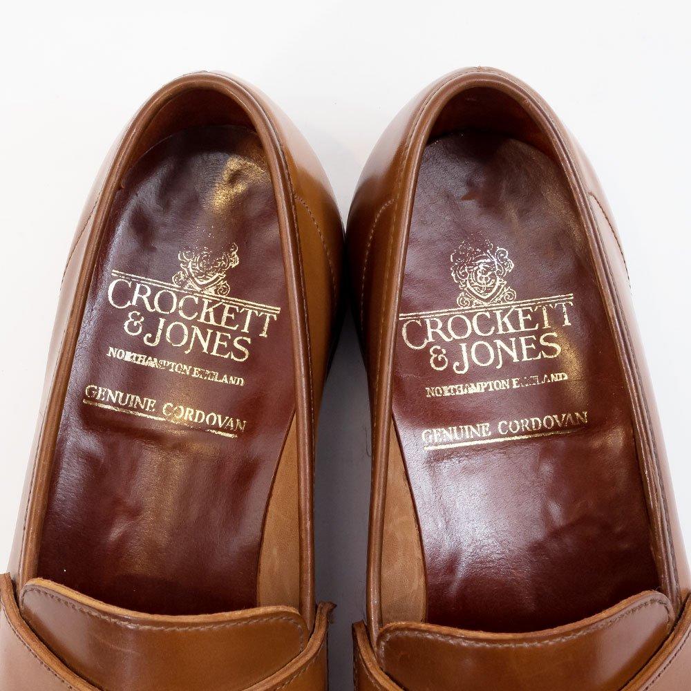 クロケット&ジョーンズ ROMSEY【ロムジー】コインローファー ウィスキーコードバン アンラインド サイズ6.5E