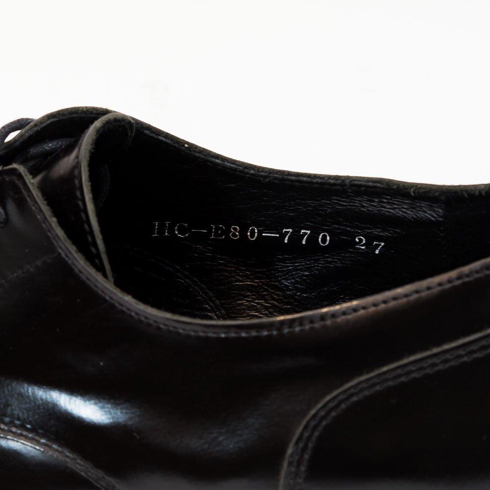 ヨウジヤマモト プレーントゥ シューズ  ブラック サイズ27
