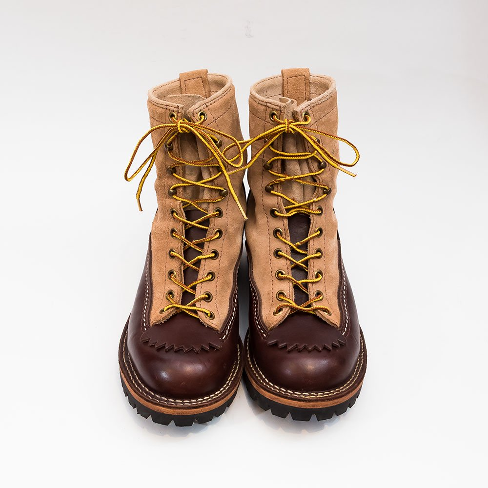 ウエスコ ジョブマスター ブラウン × バーラップラフアウト 10ホール ブーツ サイズ8.5E