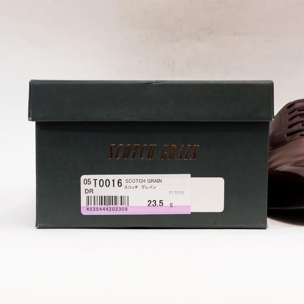 スコッチグレイン T0016 内羽根 ストレートチップ ダークブラウン アノネイ サイズ23.5E