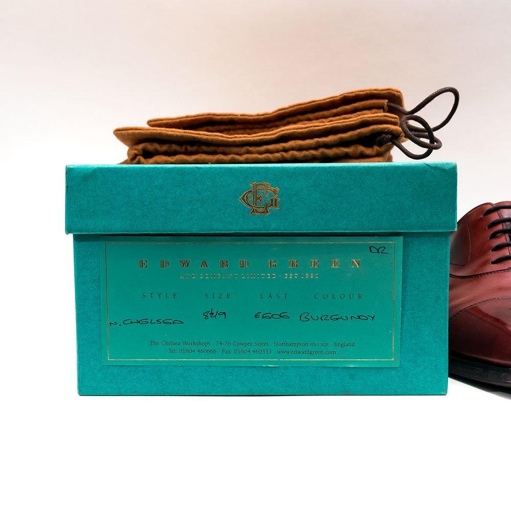 エドワードグリーン CHELSEA【チェルシー】ストレートチップ バーガンディー 606 サイズ8.5E