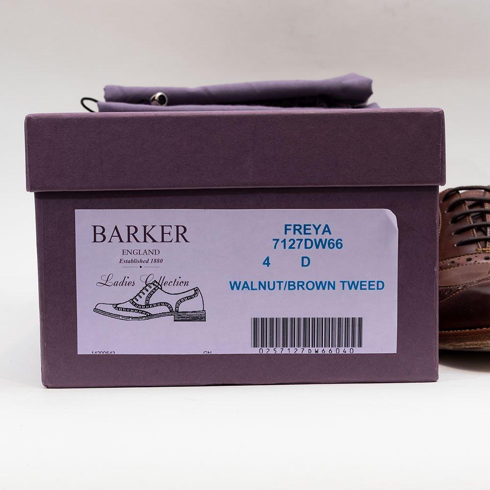 バーカー FREYA ウィングチップ ツイードコンビ  サイズ4D